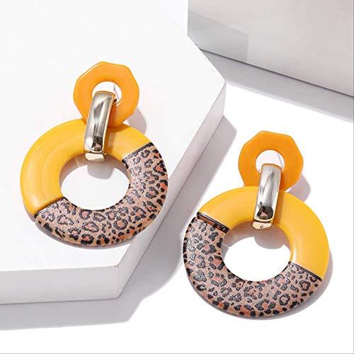 Oorbel bengelen grote ronde oorbellen Dames Multicolor oorbellen Kleur Boheemse oorbellen Hanger oorbellenez365-2