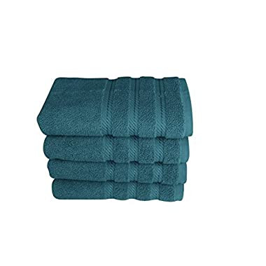 "Premium Terry Cotton Hand Towel Set - Fast Drying Bath and Spa Towel Set Made with 100% Turkish Cotton - 4 Piece Set, 16"" x 28"""