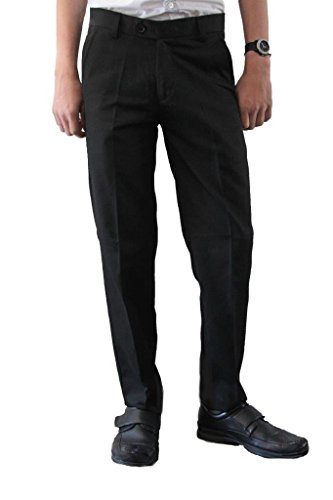 BOYS School//Formal CLASSIC Quality STURDY FIT PLUS SIZE Palvini Trousers-6-13Yrs 10-11YRS, Black