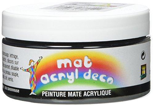 Bredac 11b3086054Vaso di pittura opaco acrilico decorazione 100ml Grigio Acciaio