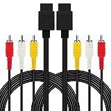 2 Pack 2.4M/7.8FT AV Cable N64 AV Cable Composite Retro Audio Video Standard Cord for Nintendo 64 TV Game/SNES/Gamecube/GC by FENGWANGLI