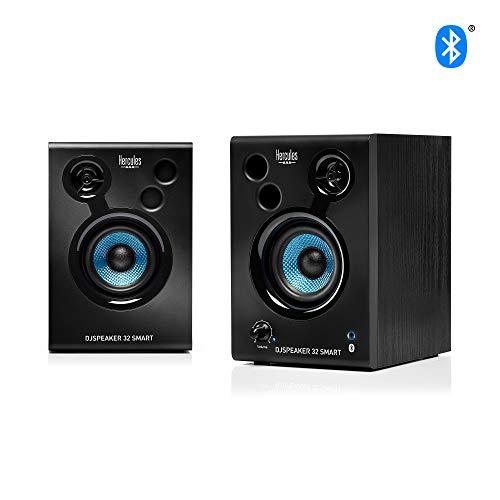 Hercules DJSpeaker 32 Smart - Aktiver DJ Monitor Bluetooth Lautsprecher für Mix, Produktion und Musik kabellos
