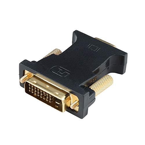 Adattatore DVI-D 24+1 a VGA, ConnBull DVI Maschio a VGA 15 Pin Adattatore 1080P per Monitor Proiettori HDTV, Nero