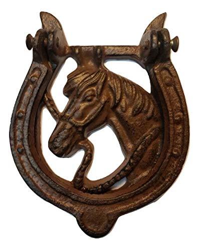 horse cast iron doorknocker - 2