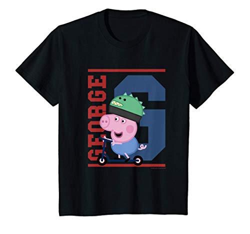 Niños George Pig Scooter Camiseta