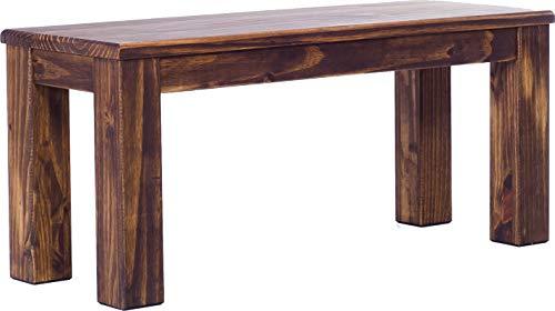 Brasilmöbel Sitzbank 100 cm Rio Classico Eiche antik Pinie Massivholz Esszimmerbank Küchenbank Holzbank - Größe und Farbe wählbar