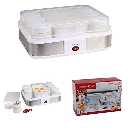 Yogurtera eléctrica de 1,2 litros, yogur automático, yogurtera, queso, máquina para queso, 12 tarros de porción con tapa de 210 ml, tapa transparente, 25 etiquetas