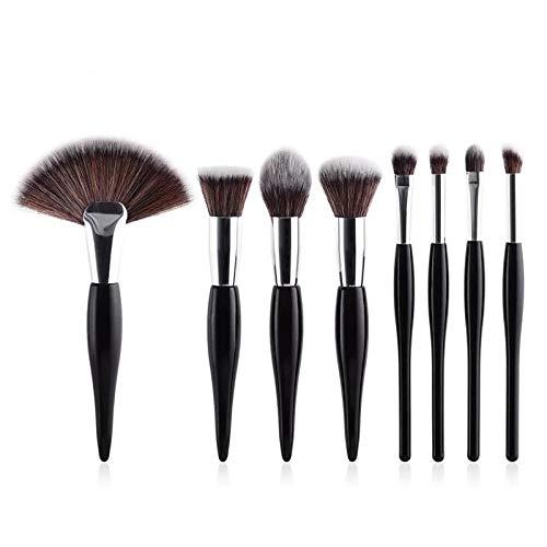 MPKHNM 8 makeup brush beauty tools black handle silver tube fan brush 8 black small rhythm