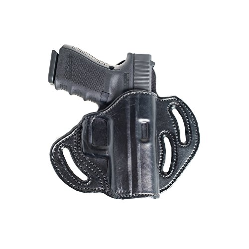 Open Top Belt OWB Leather Holster for H&K USP Compact 45, Tact. Three Slot Pancake Outside The Waistband Holster.