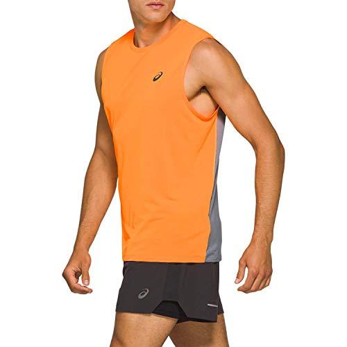 Asics Race Singlet Camiseta sin Mangas, Hombre, Orange Pop/Sheet Rock, XL
