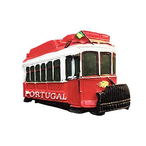 Portugal Tranvía 3D Imán para nevera regalo de recuerdo, hecho a mano para decoración del hogar y la cocina Portugal Refrigerador Imán Colección