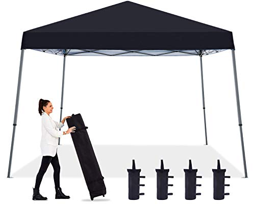 ABCCANOPY Outdoor Beach Pop up Canopy Tent 10x10 Camping Sun Shelter-Series,Black