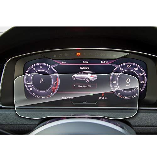 SHAOHAO Golf 7 Facelift GTI GTE GTD Golf R Variant Instrumententafel Bildschirmschutzfoli Transparent-Kratzfest 9H Anti-Fingerprint Panzerglas gehärtetem Schutzfolie