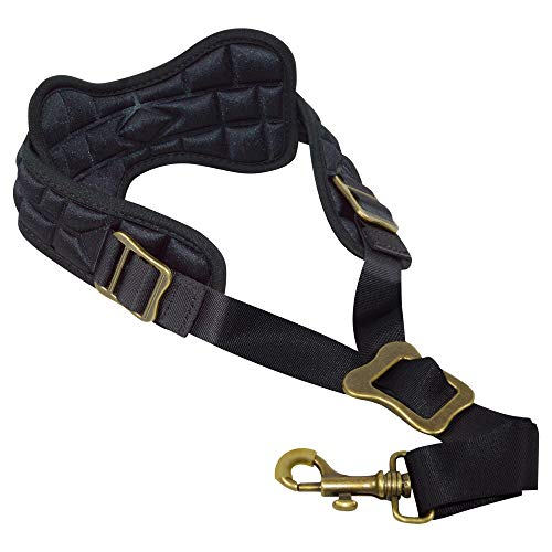 ADORENCE Padded Saxophone Strap - Comfortable Sax Strap with Breathable, Removable & Washable Neck Strap Cushion - Black