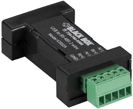Black Box DB9 Mini Converter (USB to Serial), USB/RS-485 (2-wire, Terminal Block) [並行輸入品]