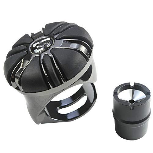 PORU Auto-Lenkradknopfleder Faltender Selbstmord-Spinner-Einhandfahrgriffball Für Fahrzeug, Einfache Installation Flexible Steuerung Lenkradgriff,Grey