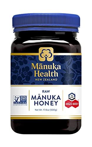 Manuka Health – Manuka Honing MGO 400 + 500 g – 100% puur uit Nieuw-Zeeland met gecertificeerd methylglyoxal-gehalte