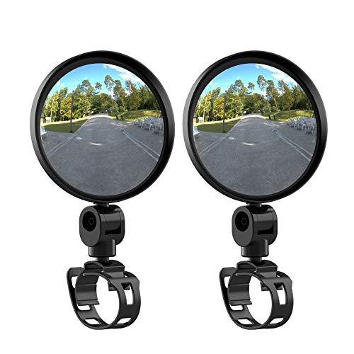 Specchio Bici Vintoney per Bici Ruotabile a 360 ° Specchietto Retrovisore per Bicicletta, Adatto per MTB / Strada / Bici Pieghevole 2 Pezzi
