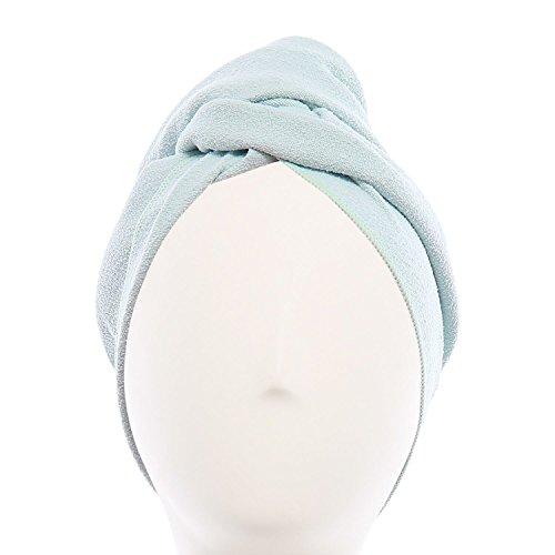 AQUIS - Toalla de pelo original, toalla de microfibra ultra absorbente y de secado rápido para cabello fino y delicado, vidrio de mar, regular (45,9 x 90,9 cm) ⭐