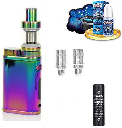 E-Zigarette SC by Eleaf Pico Regenbogen iStick 75 W Komplettset 2600mAh | Einsteiger Set TC Temperaturregelung | mit American Stars Liquid - 00mg Rauchen ohne Nikotin