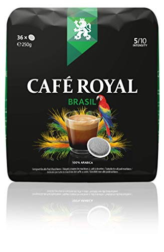 Café Royal Single Origin Brasil 36 kompatible Kaffeepads für Senseo ®*, Intensität 5/10, 1er Pack (1 x 36 Kaffee-Pads)