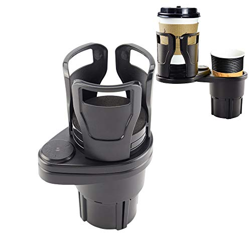 UILB Multifunctional car Cup Holder - Divided into Two car Cup Holder -car Special Drink Holder Adjust The Size Holder Drinks Bottle Water Cups Extendable Cup Holder