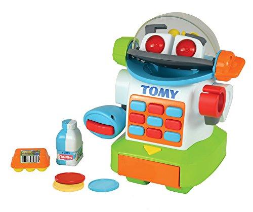 TOMY Toomies - Shopbot Mon Petit Caissier E72612, Caisse Enregistreuse pour Enfants, Jouet d'Éveil Électronique Son et Lumière, Premier Âge pour Bébé de 18 mois+, pour Fille et Garçon, Multicolore