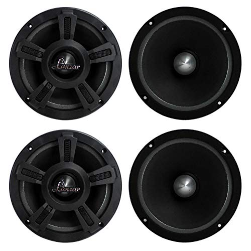 LANZAR OPTI6MI 6.5' 2000W Car Mid bass Mid Range Audio Power Speakers