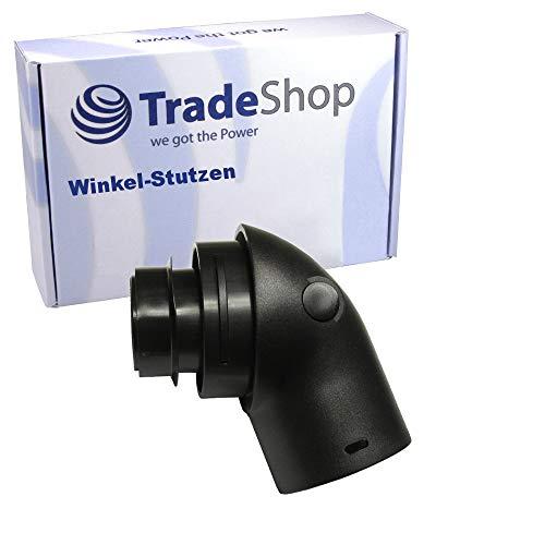 Trade-Shop Winkel-Stutzen für viele Bosch, Siemens, Krups Staubsauger wie Bosch Alpha, Maxima, Siemens VS7 und viele weitere/Anschluss-Adapter