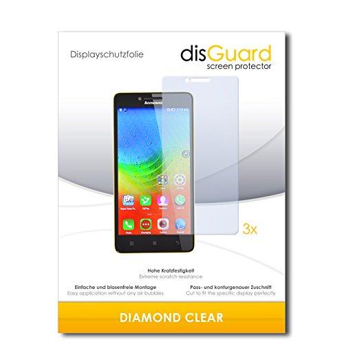 disGuard 3 x Schutzfolie Lenovo K3 Lemon Bildschirmschutz Folie DiamondClear unsichtbar
