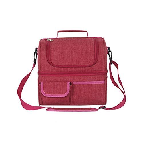 Lwieui Bolsas de Almuerzo EVA Resistente al Agua Bolsa de Almuerzo niños y Adultos Almuerzo Bolsas se Pueden Mantener los Alimentos Calientes Bolsas de Almuerzo (Color : Red, Size : 26x20x27cm)