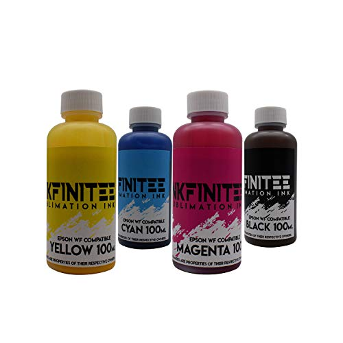 Sublimation Ink for Epson WF 7710   Sublimation Ink   Ideal for T-Shirts, Mugs, Phone Cases, Tumblers, Blankets and Pillowcases