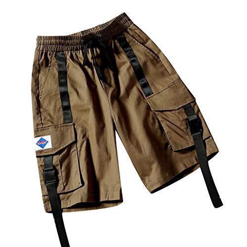 VPASS Pantalones Hombre,Verano Pantalones Casual Moda Trabajo Corta Pantalones Pants Jogging Deportes...