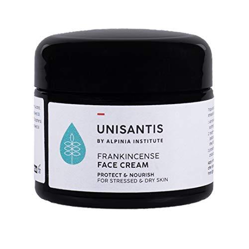 Unisantis Weihrauch Gesichtscreme | Für sehr trockene & empfindliche Haut | Intensive, natürliche Tagescreme | Pflegt & beruhigt gereizte & juckende Haut | Vegane Formel