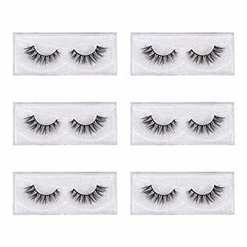 3D Mink Lashes, 18mm Natural Layered Effect Fake Eyelashes, Soft Luxury Cat Eye Siberian Mink Lash Extensions For Women, Cross 100% Cruelty Free Makeup False Eyelashes, 6 Pairs, Handmade By Havoo