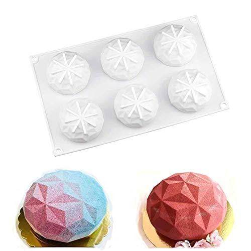 BrilliantDay 3D A Forma di Diamante Silicone Torta stampi Stampo da Antiaderente per Tortiera, Gelatina, Sapone, Torte, Budino, Gelatina, Focaccina
