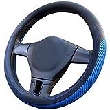 PahajimCar Steering Wheel Cover Mikrofaser Weich Fahrzeug Lenkradabdeckung Bequem Auto Lenkradschutz Universal Durchmesser 38cm (15') (1-Blau)
