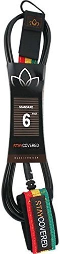 Stay Coverouge Dlx Competiton 6' Leash noir Rasta by Stay Coverouge