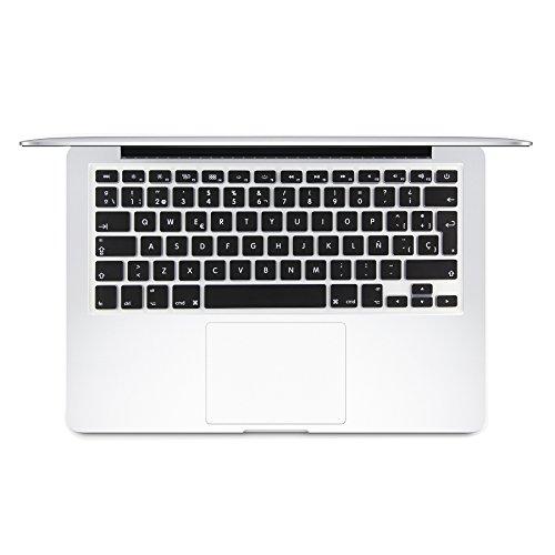 i-Buy La cubierta del teclado de silicona para el MacBook Air&Pro de 13&15 pulgadas[teclado Europea,español]- Negro