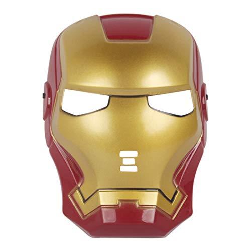 Coolgun Máscara de Halloween para niños Cosplay de la película de juguete para 3 4, 5, 6, 7, 8, 9 y 10 años de edad (Iron Man)