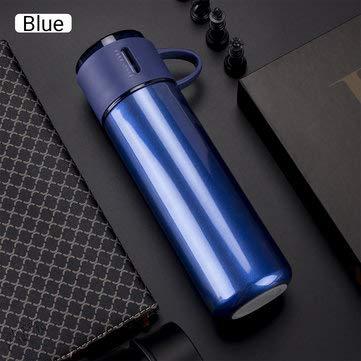 DyNamic 35Oml / 450Ml Roestvrijstalen Thermosfles Geïsoleerde Beker Waterfles - Blauw - 350 ml