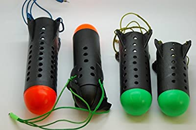 "Olax 4x Quality Fishing Spods, 8"", 8"",6"",5"", 19cm, 19cm, 16cm, 13cm, Bait Spod, Carp Fishing Rocket Feeder by firetrappp"