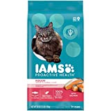 IAMS Proactive Health Adult Indoor Weight & Hairball Care Dry Cat Food with Salmon, 3.5 lb. Bag
