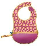 BABIREVA b.box Hip Hop - Babero de viaje con cuchara flexible plegable en su funda de transporte (30 cm), color rosa