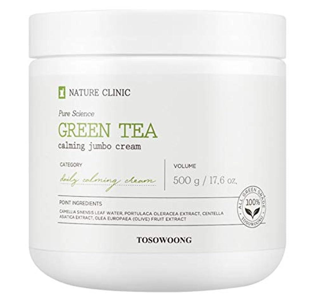 薄暗いオーナメントカメ[TOSOWOONG] トソウン緑茶水分クリーム 500g / TOSOWOONG GREEN TEA CREAM 500g / NATURAL MOISTURE SOOTHING CALMING [並行輸入品]