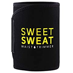 GET YOUR SWEAT ON: The Sweet Sweat Waist Trimmer is designed to enhance your workout by helping to improve thermogenic activity and SWEAT! FREE Bonus: Includes breathable carrying bag and a sample of our bestselling Sweet Sweat Gel. Use Sweet Sweat a...