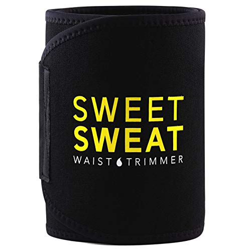 Sports Research Sweet Sweat Premium Waist Trimmer, for Men & Women ~ Includes Free Breathable Carrying Case & Sweet Sweat Gel Sample! (XX-Large)