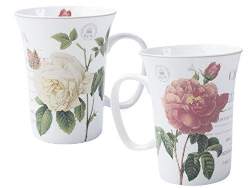 Royal Botanic Gardens, Kew 'Queen Charlotte's Memoirs' Taza de porcelana fina de Creative Tops, 300 ml (10 ml)