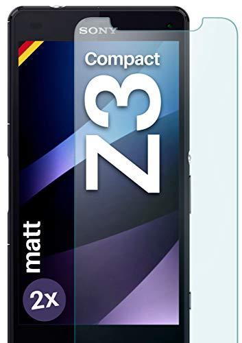 moex Panzerglas kompatibel mit Sony Xperia Z3 Compact - Panzerfolie Matt aus Glas, Anti Reflex Bildschirmschutz Kratzfest, Matte 9H Schutzfolie, 2X Stück