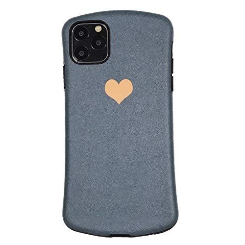 JIANWU CAS de couverture, for iPhone 11 Pro MAX Simple Love Design Small Forma de la Cintura Relieve Protección de teléfono móvil Shell (Negro Negro) (Color : Light Black)